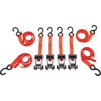 SmartStraps RatchetX Aluminum Tie-Downs — 14ft.L, 3,000-Lb. Breaking Strength, 4-Pack, Orange, Model# 349