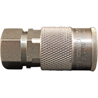 Milton H-Style 3/8in. Coupler — 3/8in. FNPT, Model# S-1835
