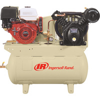 FREE SHIPPING — Ingersoll Rand 25 CFM @ 175 PSI, 13 HP Horizontal Air Compressor with Alternator, Model# 2475F13GH