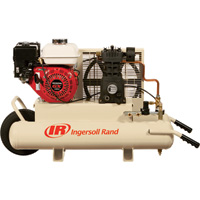 FREE SHIPPING — Ingersoll Rand Gas Portable Air Compressor — 5.5 HP, 11.8 CFM At 90 PSI, Model# SS3J5.5GHWB