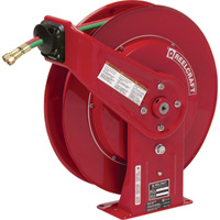Reelcraft TW Series Spring-Rewind Twin-Line Oxyacetylene Hose Reel — Includes 1/4in. x 60Ft. Hose, Model# TW7460OLP