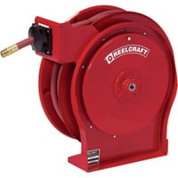 Reelcraft Air/Water Hose Reel — With 3/8in. x 50ft. PVC Hose, Max. 300 PSI, Model # 5650 OLP92