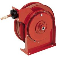 Reelcraft Spring-Powered Hose Reel — With 3/8in. x 50ft. Rubber Hose, Max. 5,000 PSI, Model #7650OHP