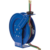 Coxreels SHW Series Spring-Rewind Twin-Line Dual Fuel T-Grade Hose Reel — Includes 1/4in. x 50ft. Hose, Model# SHWT-N-150