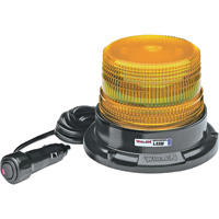 Whelen L53 Series Super-LED Mini Beacon Light — Class 3 Amber, Magnetic Mount, Model# L53AM