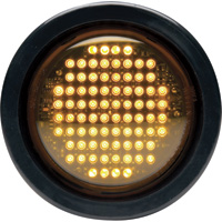 Whelen 4in. Round Flashing LED Warning Light – Amber Lens, Model# 2GA00FAR
