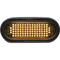 Whelen 6in. Oval Flashing LED Warning Light – Amber Lens, Model# 5GA00FAR
