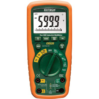 Extech Heavy-Duty True RMS Industrial Multimeter, Model# EX520