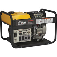 NorthStar Portable Diesel Generator — 6500 Surge Watts, 6120 Rated Watts, Kubota 416cc Engine, Electric Start, EPA Tier 4 Compliant