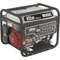 NorthStar Portable Generator — 8000 Surge Watts, 6600 Rated Watts, EPA and CARB-Compliant