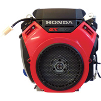 Honda V-Twin Horizontal OHV Engine with Electric Start – 688cc, GX Series, 1in. x 2 29/32in. Shaft, Model# GX630RHQAF
