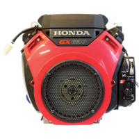 Honda V-Twin Horizontal OHV Engine with Electric Start – 688cc, GX Series, 1in. x 2 29/32in. Shaft, Model# GX630RHQAF1
