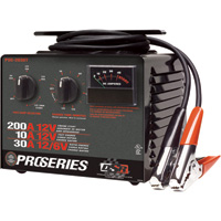 Schumacher DSR ProSeries High-Performance Battery Charger with Engine Start — 6/12 Volt, 200 Amp, Manual, Model# PSC-2030T