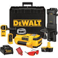 FREE SHIPPING — DEWALT Self-Leveling Rotary Laser Kit — 18 Volt, Model# DW079KD