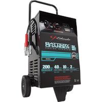 Schumacher Wheeled Battery Charger with Engine Start — 6/12 Volt, 2/10/40/200 Amps, Manual, Model# SE-4022