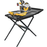 FREE SHIPPING — DEWALT Wet Tile Saw with Stand — 10in., Model# D24000S