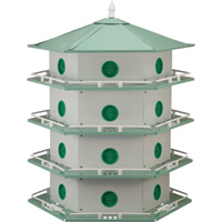 Heath Deluxe Purple Martin House — 24-Room, Model# AH-24D