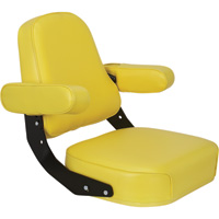 K & M Mfg Super Deluxe Seat Assembly for John Deere 10 and 20 Series Tractors — Yellow, Model# 7200