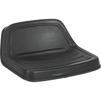 Michigan Seat Universal Lawn Mower Midback Seat — Black, Model# V-350