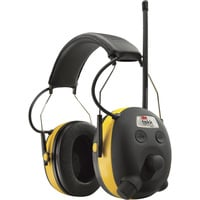 3M Tekk Protection WorkTunes AM/FM Radio/MP3 and Hearing Protector — 24dB, Model# 90541-80025V