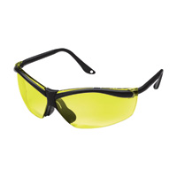 3M XF4 Safety Glasses — Black Frame, Yellow Lenses, Model# 90966