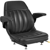 Michigan Seat All-Weather Seat with Armrests — Black, Model# V-930