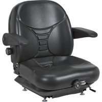 Michigan Seat Highback Suspension Seat — Black, Model# V-5300