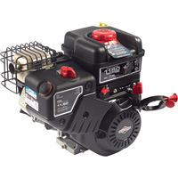 Briggs & Stratton Snow Blower Engine with Electric Start — 250cc, 1in. x 2.761in. Shaft, Model# 15C134-3023-F8