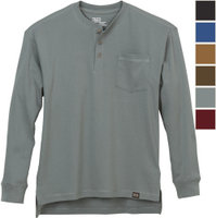FREE SHIPPING — Gravel Gear Warrior Long Sleeve Henley Shirt with Teflon Fabric Protector