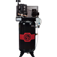 FREE SHIPPING — Chicago Pneumatic Reciprocating Air Compressor — 5 HP, 80 Gallon, 208-230 Volt, 1-Phase, Model# RCP581V