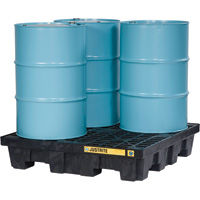 Justrite EcoPolyBlend Spill Control Pallet — 4-Drum Capacity, Model# 28635