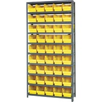 Quantum Storage Complete Shelving System with 6in. Bins — 36in.W x 12in.D x 75in.H, 45 bins (11 5/8in.L x 6 5/8in.W x 6in.H each), Model# 1275202