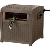 Suncast Resin Wicker Hose Reel Storage — Holds  5/8in. x 225ft. Hose, Model# SWM200