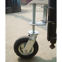 Gate Wheel with Suspension — 210-Lb. Capacity, 8in. Pneumatic Tire, Model# CT-GW01