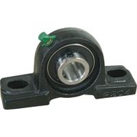 NorTrac Pillow Block — 2-Bolt Oval Mount, 1 1/4in.