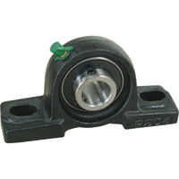 NorTrac Pillow Block — 2-Bolt Oval Mount, 1 15/16in.
