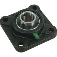 NorTrac Pillow Block — 4-Bolt Round Mount, 1 1/4in.