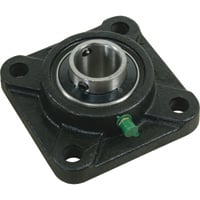 NorTrac Pillow Block — 4-Bolt Round Mount, 1 3/8in.