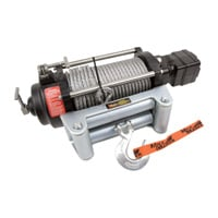 Mile Marker H-Series 12 Volt DC Powered Hydraulic Winch — 10,500-Lb. Capacity, Galvanized Aircraft Cable, Model# H10500