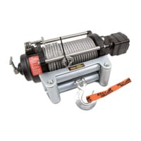 Mile Marker H-Series 12 Volt DC Powered Hydraulic Winch — 9000-Lb. Capacity, Galvanized Aircraft Cable, Model# H9000