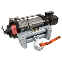 Mile Marker HI-Series 24 Volt DC Powered Hydraulic Truck Winch — 9000-lb. Capacity, Galvanized Aircraft Cable, Model# HI9000-24