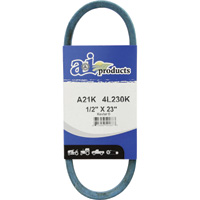 A & I Products Blue Kevlar V-Belt with Kevlar Cord — 23in.L x 1/2in.W, Model# A21K/4L230K