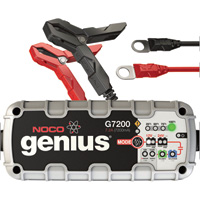 NOCO Genius Wicked Smart Multipurpose Battery Charger/Maintainer — 7.2 Amp, 12/24 Volt, Automatic, Model# G7200