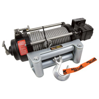 Mile Marker HI-Series 12 Volt DC Powered Hydraulic Truck Winch — 10,500-lb. Capacity, Galvanized Aircraft Cable, Model# HI10500