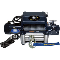 Superwinch 12 Volt DC Powered Electric Truck Winch with Remote — 12,500-Lb. Capacity, Wire Rope, Model# 1612210