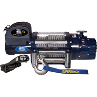 Superwinch 12 Volt DC Powered Electric Truck Winch with Remote — 18,000-Lb. Capacity, Wire Rope, Model# 1618200