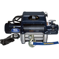 Superwinch 12 Volt DC Powered Electric Truck Winch with Remote — 9500-Lb. Capacity, Wire Rope, Model# 1695210