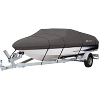 Classic Accessories StormPro Heavy-Duty Boat Cover — Charcoal, Fits 20ft.–22ft. x 106in.W Boats, Model# 88958