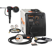FREE SHIPPING — Hobart Handler 190 Flux-Core/MIG Welder with Included SpoolRunner 100, 10ft. Spool Gun — 230V, 190 Amp, Model# 500554001
