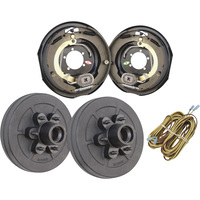 Tow Zone Electric Drum Brake Kit — Pair, 12in., Model# 56122
